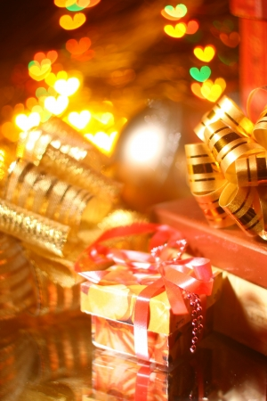 holiday gifts background hearts warm Stock Photo - 11138466