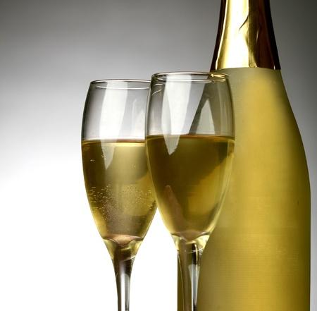 coupe de champagne: Nouvel An Banque d'images