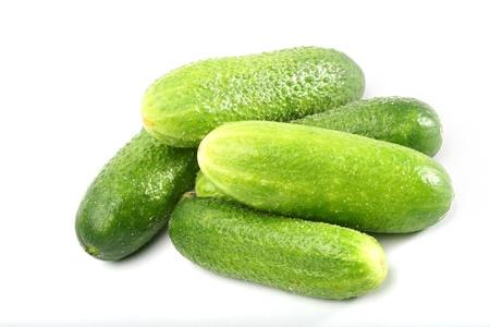 unbroken: cucumber isolated on white background Stock Photo