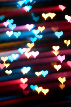 motion colored  heart abstract love background photo