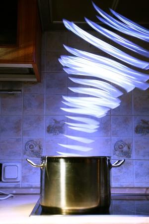 magic pan light inside it photo