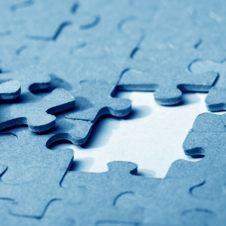 puzzle combined objects macro close up  Stock Photo - 11138701