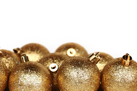 golden christmas ball isolated on white Stock Photo - 11138162