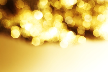 sparkles: golden bokeh background close up Stock Photo