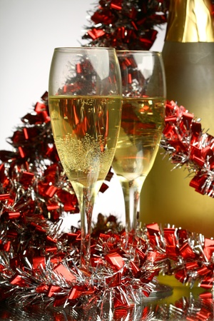champagne flutes: New Year