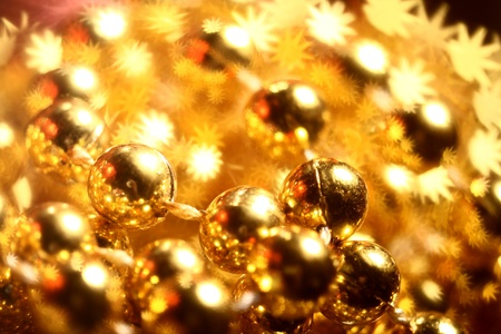 golden stars holiday background close up Stock Photo - 11262507