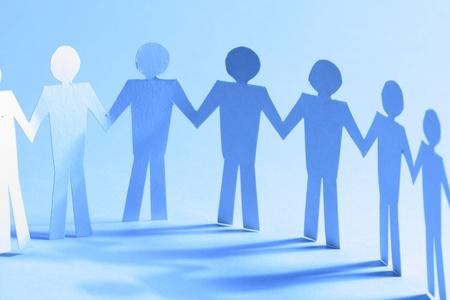 cooperativismo: equipo de trabajo vinculados entre sí concepto de asociación