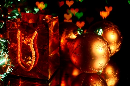 holiday gifts background warm stars  Stock Photo - 11262503