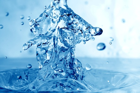 super macro: water drop super splash macro close up Stock Photo