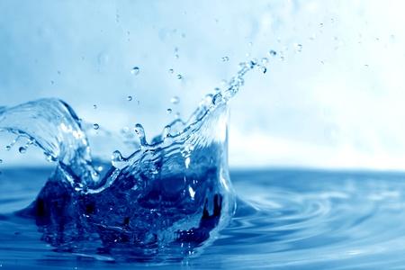 spruzzi acqua: macro spruzzi d'acqua bagnato vicino Archivio Fotografico
