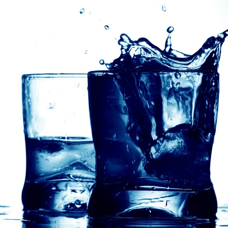 tannin: alcohol  splash isolated on white Stock Photo