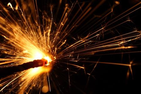 vacances sparkler macro close up Banque d'images