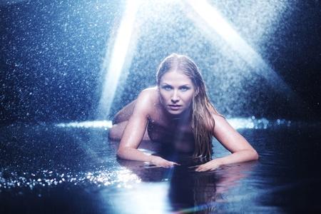 nude woman portrait in water sudio Stock Photo - 11278686