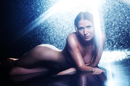 nude woman portrait in water sudio Stock Photo - 11278678