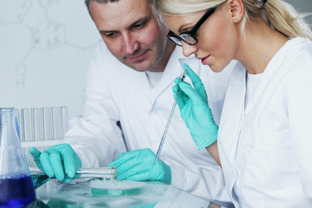 Chemistry Scientist conducting experiments in laboratory Stock Photo - 11278659