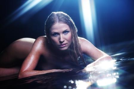 nude woman portrait in water sudio Stock Photo - 11340486