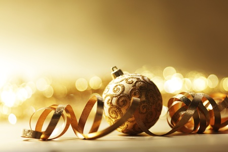 christmas card background: golden christmas card holiday background Stock Photo