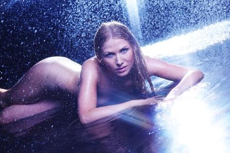 nude woman portrait in water sudio Stock Photo - 11373184