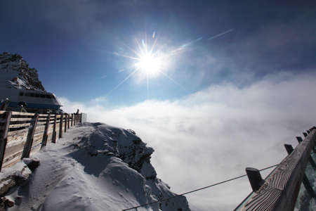 top of alps in sky Stock Photo - 12508582