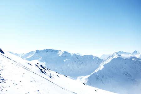 top of alps in sky photo