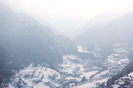 alpen: mountain vilage on alpen top Stock Photo