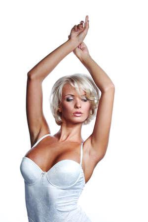 underwear woman in studio isolated Stock Photo - 12508411