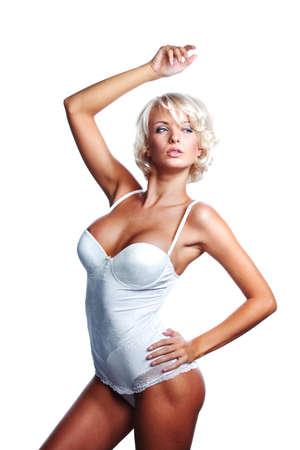 underwear woman in studio isolated Stock Photo - 12508414