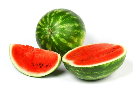 watermelon slice isolated on white Stock Photo - 12508443