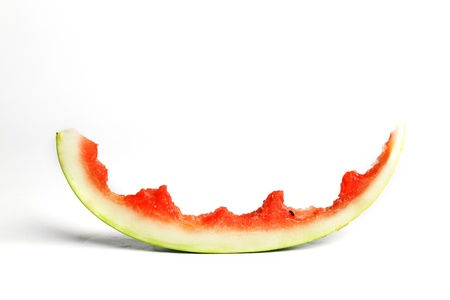 watermelon slice isolated on white photo