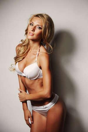 underwear woman in studio fashion portrait Stock Photo - 12508515