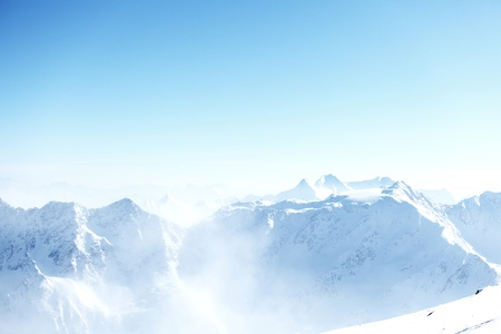 top of alps in sky photo