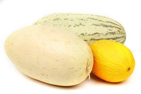 different melon isolated on white Stock Photo - 12918799