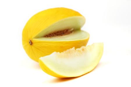 honeydew: honeydew melon isolated on white