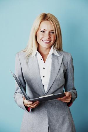 secretaria sexy: mujer de negocios de cerca Foto de archivo