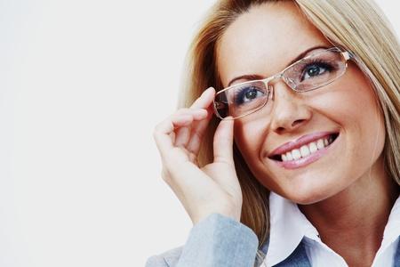 sexy teacher: business woman close up Stock Photo