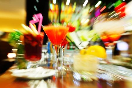cocteles de frutas: C�cteles de colores de cerca