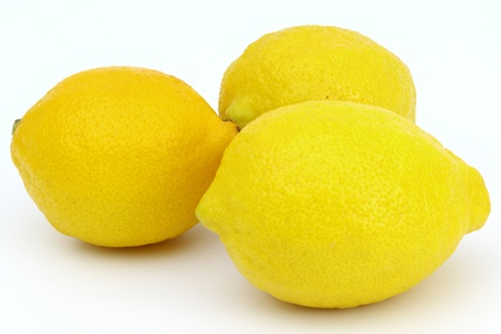 Lemons isolated on white background photo