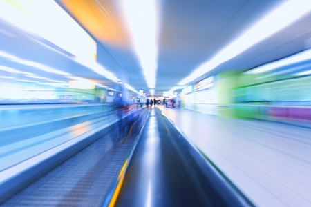 abstract background of moving escalator photo