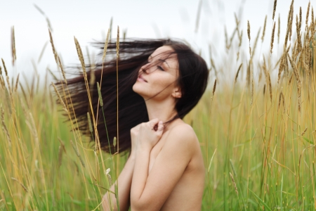 nude woman in the rye photo