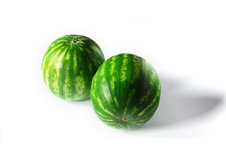 watermelon isolated on white photo