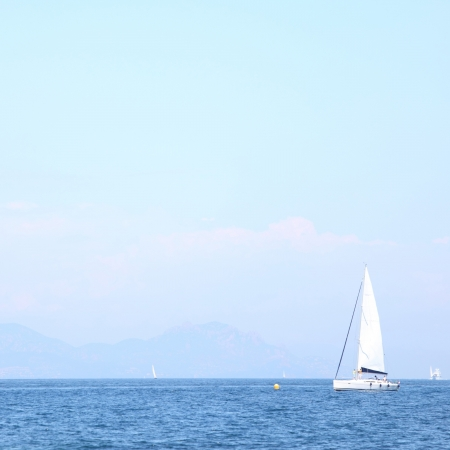 yacht in sea photo