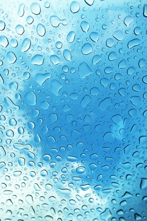 air bubbles: Water Drops on blue background