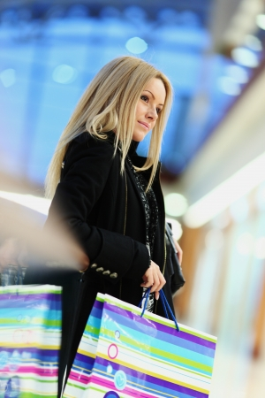 woman on shopping photo