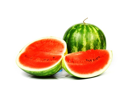 water melon: watermelon slice isolated on white Stock Photo