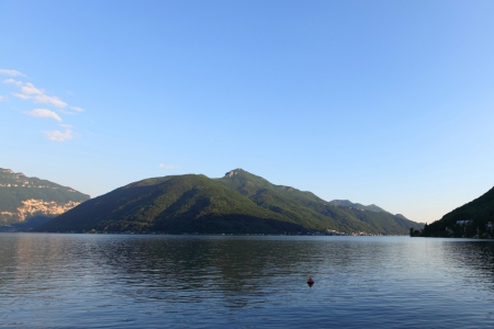 lugano lake landscape photo