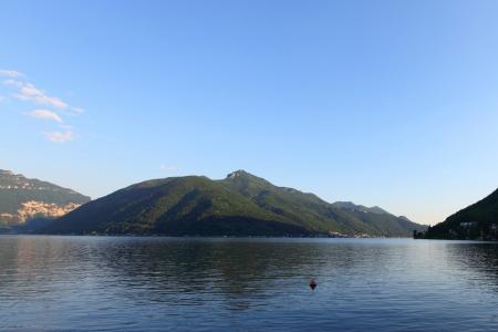 lugano lake landscape Stock Photo - 15489988