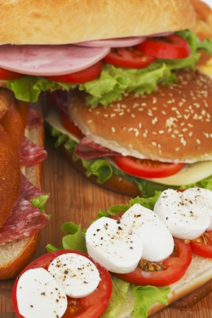 pile of sandwiches close Stock Photo - 15490330