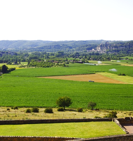 france green field panorama photo