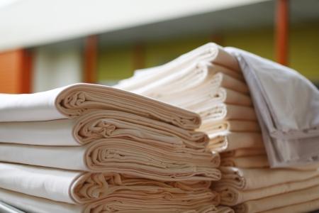 orange washcloth: towels close up
