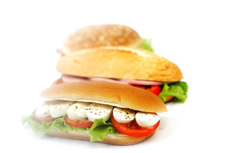 pile of sandwiches close Stock Photo - 15241435